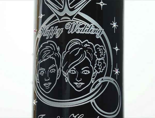 オリジナル似顔絵ワイン