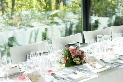 披露宴のテーブル装花