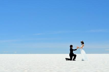 感動のプロポーズを花嫁へ