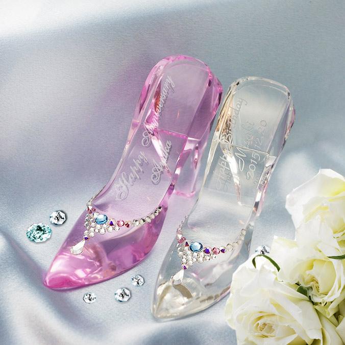 ガラスの靴 メッセージを刻む
